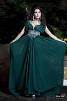 Reference Images Square Elastic Silk like Satin 2014 Prom Dresses New Dark Green Arabic Kaftan Evening Dress Cap Sleeves Rhinestones Sash Chiffon Abaya Dubai Evening Gown