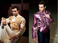 Custom made Long- sleeved Men's Shirt Girdle Fashion Wedding ...