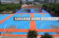 Wholesale Plastic Outdoor Sports Flooring With Multi Purpose Interlocking Sports Court Floor