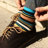 Wholesale 10 Pairs Elegant Stripe Multicolour Men s Socks W4280