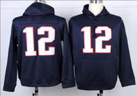 Wholesale Hot Tom Brady Navy Blue Football Hoodies Jackets for Men Top Quality Football Wears Cheap Outdoor Hoodie Mix Order