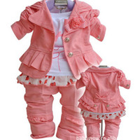 Girl Spring / Autumn Long 2013 Kids girls 001 new fall suit clothes coat set