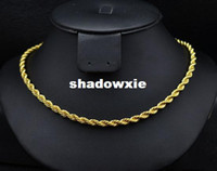 Wholesale New fashion jewellery K gold plated HipHop Rope Chain link necklace for women man N Top quality inch N960