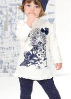 Wholesale Autumn girls casual long sleeved leopard suit clothes set