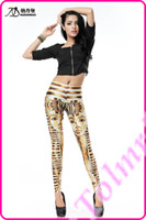 Wholesale Sexy New Arrival Women Winter Fashion Egyptian Pharaoh Print Ladies Leggings Treggings Shiny Pants Tights Trousers DK