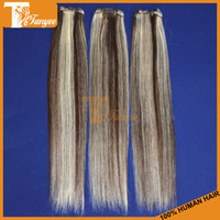 Straight Brazilian Hair machine Cheap Ombre Hair Extensions Silky Straight 5A Brazilian Virgin Hair Weft 3pcs Lot Ombre Human Hair Weave Two Tone Colored Hair #4 613