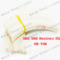 Wholesale SMD Resistors R W valuesX25pcs SMD Resistors Assorted Kit Sample bag