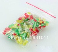 Wholesale mm mm diffused red green yellow LED each