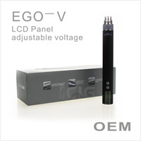 Electronic Cigarette Battery 650mAh Christmas promotion EGO V starter kits LCD display Available voltage 3-6v vapor pen attach the battery connector gift box packing OEM accept