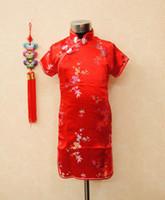 Cheap New 5 pcs lot New baby girl's summer dress Children dress kids flower princess dress China cheongsam