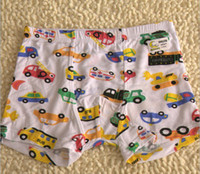 Wholesale 2014 NEW kids underwear boxers modal boy Children s boys car print B14037
