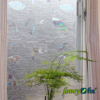 Wholesale Prismatic Cut Glass Effect Static Cling Privacy Decorative Window Film S167