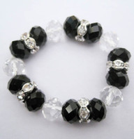 Wholesale White amp black crystal Napkin Rings Wedding party