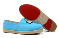 Wholesale France Brand all the year round ramie sole shoes low women Flats casual shoes for men