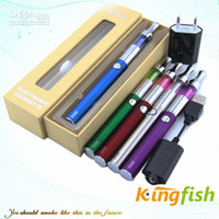 Wholesale Kingfish Electronic Cigarette E Cigarette EVOD Kit Evod Batery ego battery and mini protank Atomizer Ecig new design top quality gift box