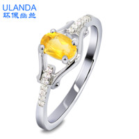 Band Rings Silver 925 Silver S925 sterling silver jewelry natural Citrine Silver Ring Korean Fashion Couple platinum -plated rings ring for men and women