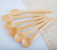 baby wooden spoons - Newest Feeding Small Wooden Kid Baby Child safety Spoon