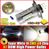 Wholesale H7 Super White CREE High Power W LED Front Daytime Running Light Fog Light DRL Replacement Bulbs