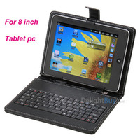 """Keyboard Case 8'' UNIVERSAL 8 inch Universal USB Keyboard Leather Cover Case Bag for 8"""" Tablet PC MID PDA"""