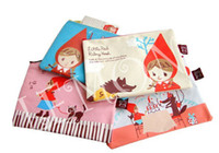 Calligraphy & Fountain Pens   Cartoon ultra thick cute little red riding hood Practical zip pocket Grocery bags envelope