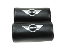 Wholesale 2pcs Leather Car Embroidery Neck Pillows Headrests For Mini Cooper Countryman