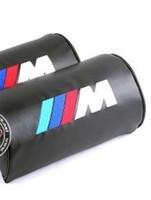 Wholesale 2pcs Leather Car Embroidery Neck Pillows Headrests For BMW M M M3 M5 M6 X3 X5
