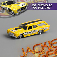 5-7 Years Car Metal [ Counter genuine boxed ] 1:60-1:68(6-8cm) cool Hot Wheels 1970 Chevrolet SS WAGON alloy car toys