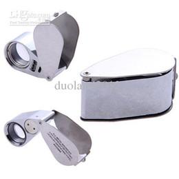 Wholesale Mini Whistle Shaped Glass LED Illuminated Jewerly Loupe Eye Magnifier Magnifying for Tiny Objects
