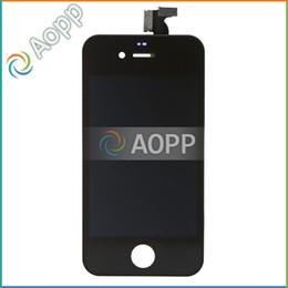 Iphone 4s conjunto completo en venta-20PCS / LOT LCD para el iPhone 4 4G / 4S libera la nave con la pantalla táctil Conjunto completo del sistema con el acoplador del altavoz de la cubierta de polvo y el difusor de la cámara
