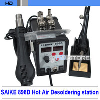 Electricity   Original SAIKE898D Hot air gun Desoldering station Combo Electric iron thermostat thermostat digital soldering station