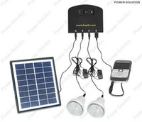 Wholesale 4W mah battery Ultralight ultrathin Newest type Lithium Battery LED portable solar power lighting system home lighting kits