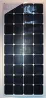 Wholesale 120W High efficiency bent up to degrees semi flexible solar photovoltaic panel