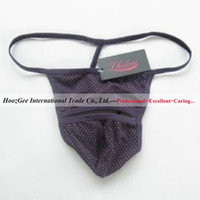 Wholesale OEM Sample Sexy Underwear Solid Man s Elasticity Panties G string T back Sexy Lingerie