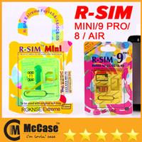 Wholesale Original RSIM R SIM R SIM Mini PRO Gold C S Air Unlock Card For Iphone S C S IOS x x x x G G
