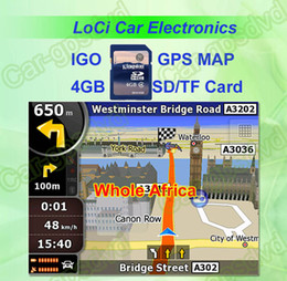 Free shipping! The latest 8GB SD TF memory card with car IGO Primo GPS Navigator map for Whole Africa