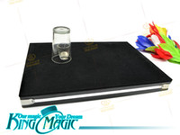 Wholesale Coin thru glass table magic tricks toys King magic magie magia