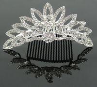 Wholesale 2013 bridal hair comb wedding crown tiaras silver crystal rhinestones hair ornaments fashion headband