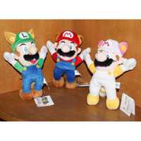 fire fox - EMS cm New Super Mario Bros Plush Figure Raccoon Tanooki Mario Kitsune Fox Luigi White Racoon Fire Mario