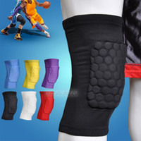 Wholesale Honeycomb Foam Pad Crashproof Basketball Protect Leg Knee Short Sleeve Black
