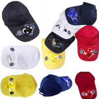 Wholesale New Summer Solar Fan Hat Baseball Golf Cap Cool Sun Power Hat For Outdoor Sports Colors Choose DGR