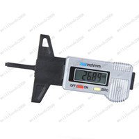 Wholesale Digital LCD Tyre Tire Tread Depth Brake Shoe Pad Gauge mm Metric inch MYY7758