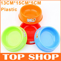 Wholesale Dog Bowls Plastic S Pet Bowl Dog Bowl Upper Diameter13CM Bottom Diameter15CM Height CM Pet Supplies Feeding Dishes Bowl11