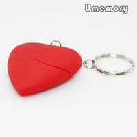 Wholesale Real Capacity GB GB GB GB GB Red Heart Shape USB Flash Drive Pen Drive Memory Stick Pendrive US0288