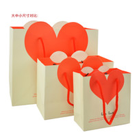 Wholesale Gift Wrap Love Heart wedding gift paper bag valentine colors