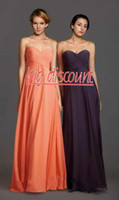 Wholesale 2014 Big Discount Stock OFF Coral Fashion Sweetheart Empire Chiffon HOT Bridesmaid Dresses Prom Party pageant Dress