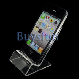 Wholesale 20Pieces Clear Acrylic Stand New Mount Holder for iPhone S GS iPod Touch Cell phone Z JII