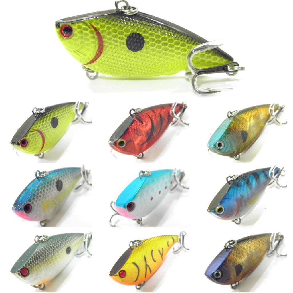 Fishing lure body lipless trap crankbait hard bait fresh for Crappie fishing tackle