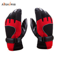 Wholesale 2013 Winter Men s Microfiber Piga velvet warm winter outdoor sports gloves motorcycle riding gloves
