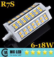 Wholesale Dimmable Non Dimmable R7S LED W W W W W Light mm mm mm SMD Warm Cool White V Replace Halogen Floodlight