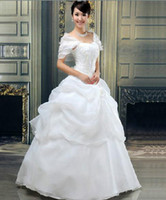Wholesale Fashion Sweet and Elegant Lace Up Floor length Princess s Wedding Dress